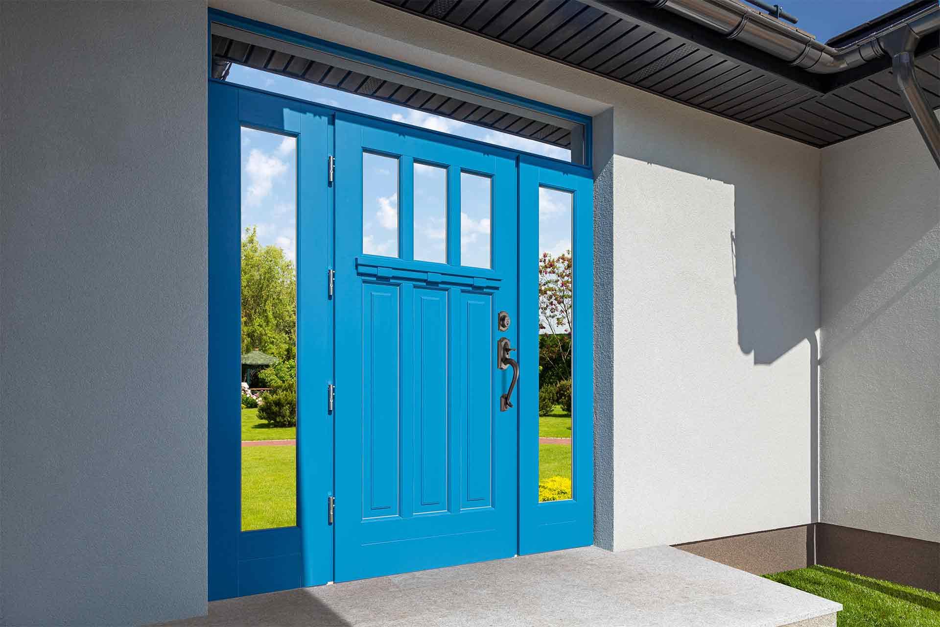 Drzwi zewnętrzne Barański z pochwytem amerykańskim