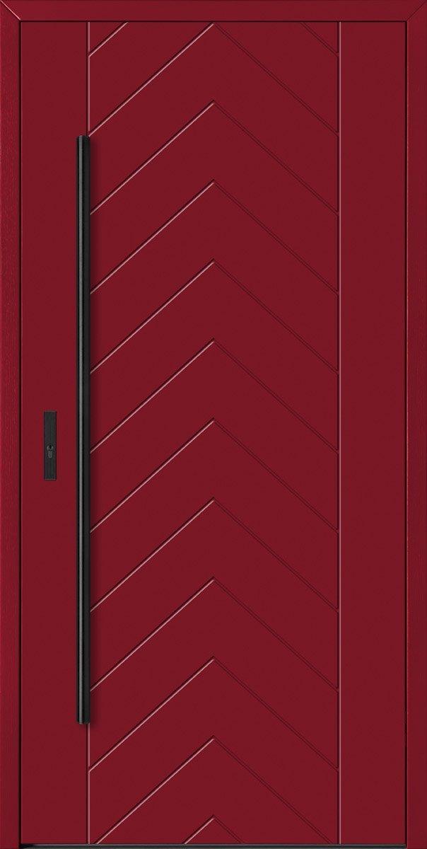 Barański drzwi zewnętrzne czerwone, drzwi drewniane