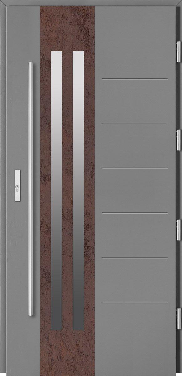 Barański - Szare drzwi zewnętrzne z linii Kamień