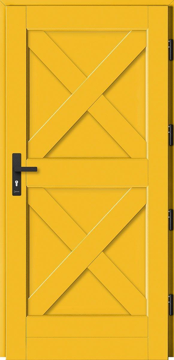 Barański dom z żółtymi drzwiami będzie się wyróżniał