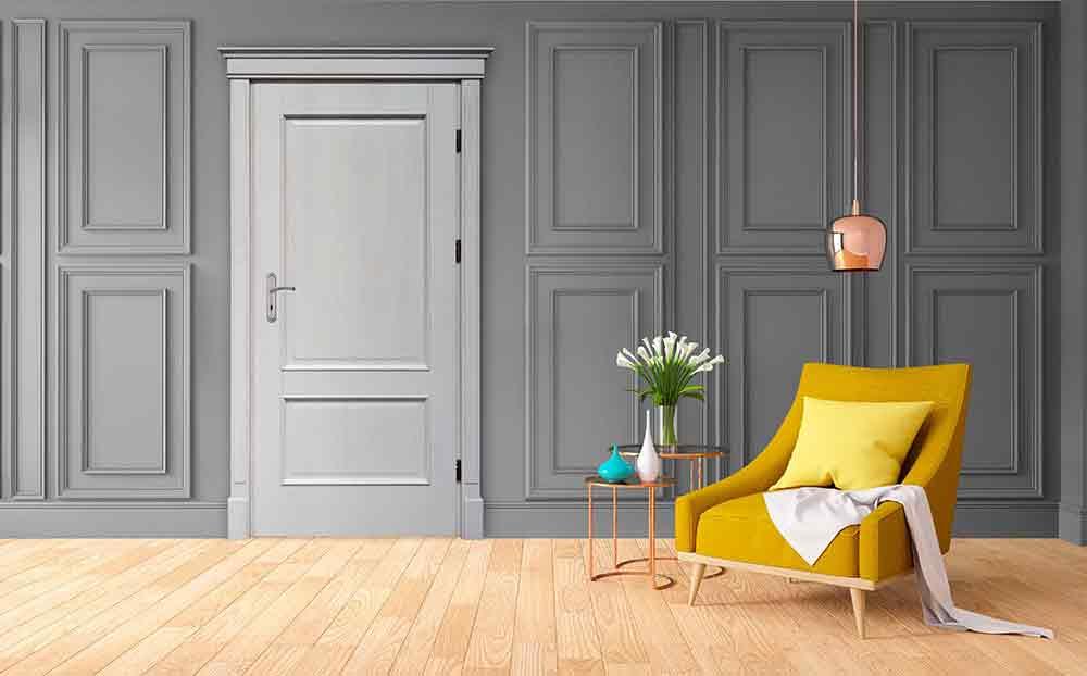Drzwi drewniane model Merkury A cętkowane