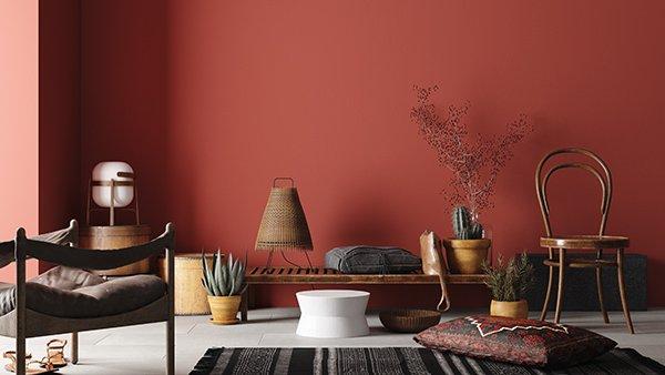 Kolorystyka wnętrza w stylu boho – odcienie inspirowane naturą